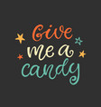 give me a candy halloween party poster vector image vector image