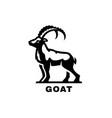goat symbol logo black white style vector image