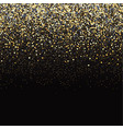gold glitter black background vector image vector image