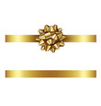 gold ribbon with bow vector image vector image