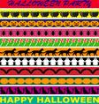 Halloween borders vector image vector image