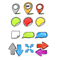 Hand-drawn symbols collection vector image vector image