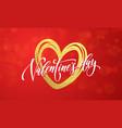 hearts valentine garland glitter pattern vector image