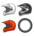 Helmet dirt motorbike ktm vector image