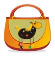Horse decorated handbag vector image vector image