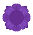 isolated flower icon vector image vector image