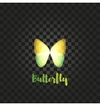 Isolated yellow butterfly logo Insects vector image vector image