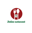 italian restaurant design template vector image