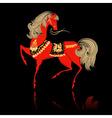 Khokhloma Pattern horse vector image vector image