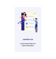 man woman and information concept vector image vector image