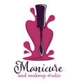 manicure and makeup studio isolated icon nail vector image vector image