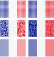 Mosaic France flag set vector image vector image