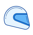 moto helmet line icon vector image vector image