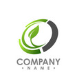 nature logo for health company icon concept vector image