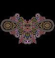 neckline - ornamental floral colored design vector image