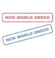 new world order textile stamps vector image vector image