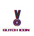 number one medal winner icon flat vector image