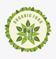organic food design vector image vector image