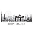 panoramic berlin cityscape vector image vector image