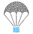 parachute collage of dollar and dots vector image vector image