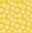 seamless pattern with popcorn pop corn yellow vector image
