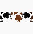 seamless with different cows skin vector image vector image