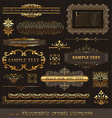 set golden page decor vector image vector image