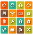 Set of Flat Square Buttons with Office vector image vector image