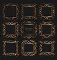 set of golden dividers vintage frames vector image vector image