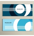 Set pattern with abstract circle banner vector image vector image
