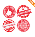 Stamp sticker best product collection - - E vector image vector image