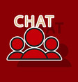 sticker mobile phone chat interface design vector image vector image