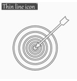Successful shoot Darts target aim icon vector image vector image