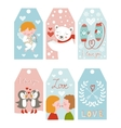 Valentines day girft tags vector image