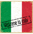 Vintage background with flag of Italy vector image vector image