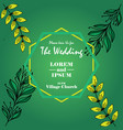 wedding invitation with leaves succulent image vector image vector image