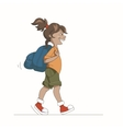 Girl With Backpack vector image