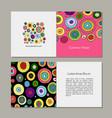 greeting cards set abstract circles design vector image