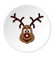 christmas deer icon circle vector image