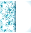 Vintage background with swirls ornaments vector image
