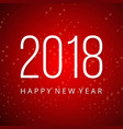 2018 and new year typography banner with pattern vector image vector image