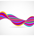 abstract colorful wave of lines multicolored vector image vector image