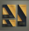 abstract geometric premium golden banner design vector image vector image