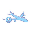 airplane download flight plane transport travel vector image vector image