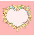angels around heart vector image vector image