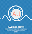 australia sign icon Blue and white abstract vector image