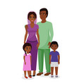 beautiful indian family vector image vector image