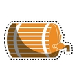 beer barrel drink icon vector image