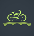 bike abstract bridge tour logo vector image