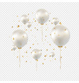 birthday card with white balloons transparent vector image vector image